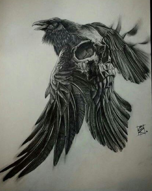 Pinteres for Ravens face tattoos