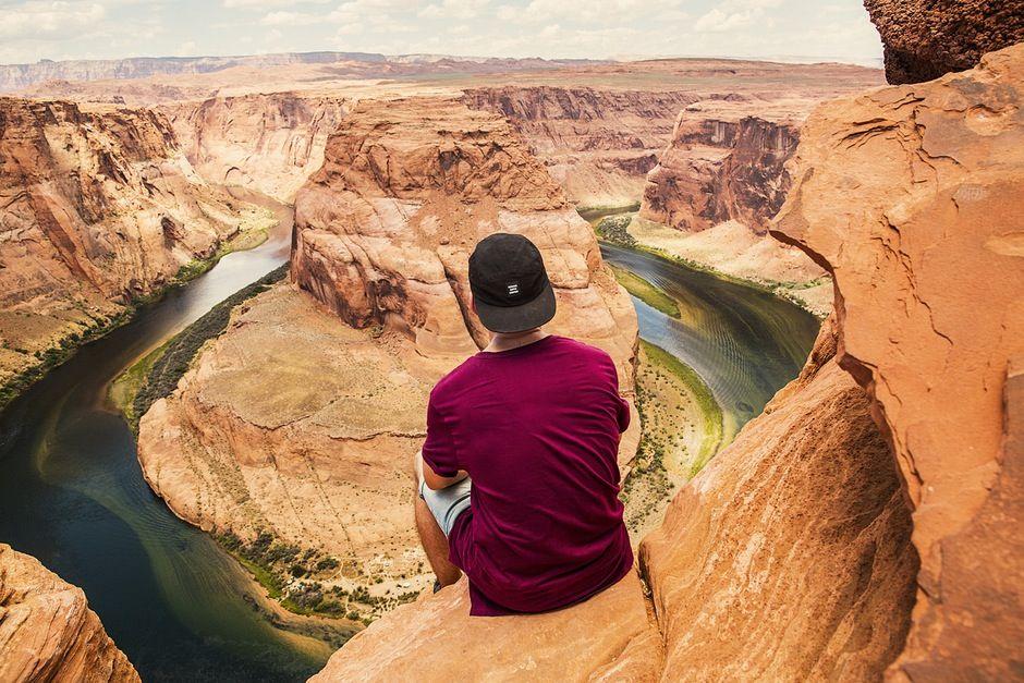 New free stock photo of landscape nature man #freebies #FreeStockPhotos