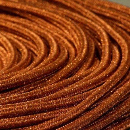 Cable textile paillettes cuivre Cuivre, Textiles et Abat-jour - Couleur Des Fils Electrique