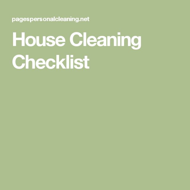 cleaning checklist house cleaning checklist