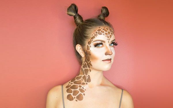 giraffe kost m selber machen fasching pinterest halloween kost m und halloween makeup. Black Bedroom Furniture Sets. Home Design Ideas