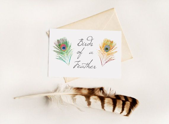 Birds of a Feather - Friendship Greeting Card, Feathers: Greeting Card