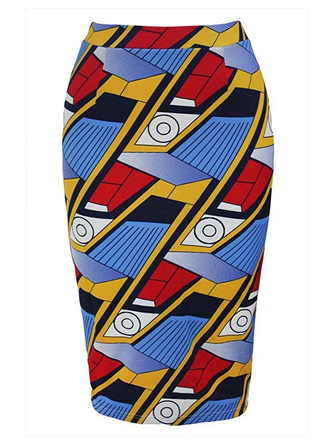 2d09a7a30 Joeoy Women's High Waist Vintage Printed Midi Pencil Skirt-S at Amazon  Women's Clothing store: