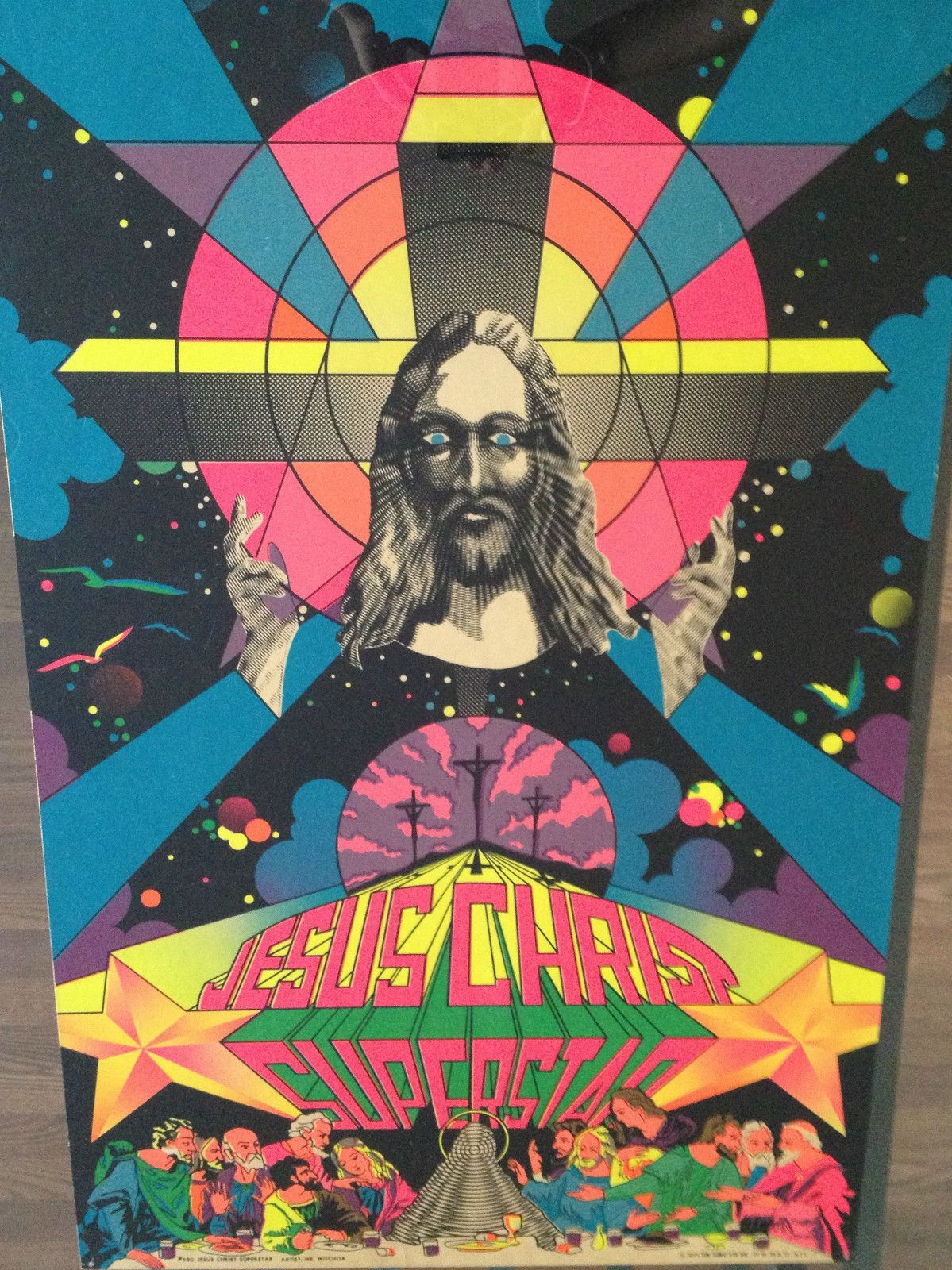 Vintage Black Light Poster Jesus Christ Superstar Third Eye Inc. Psychedelic 70s | eBay