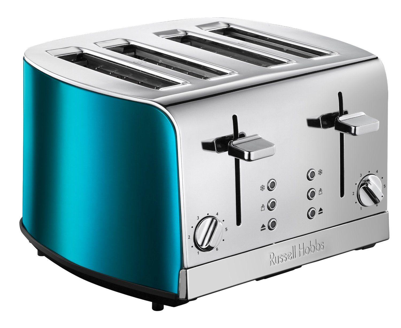 russell hobbs 19710 jewels 4-slice toaster - blue: amazon.co.uk