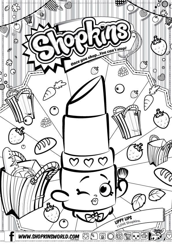Shopkins Coloring Pages Season 1 Lippy Lip Shopkins Colouring Pages Shopkin Coloring Pages Coloring Pages