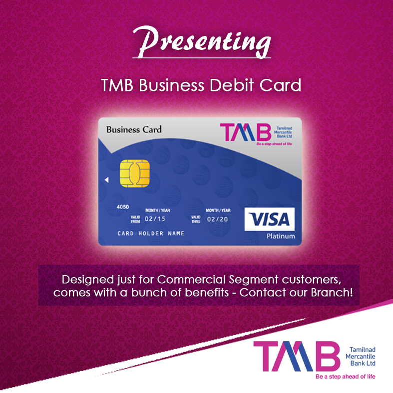 TMB Business Debit Card | TMB Cards | Visa card, Business