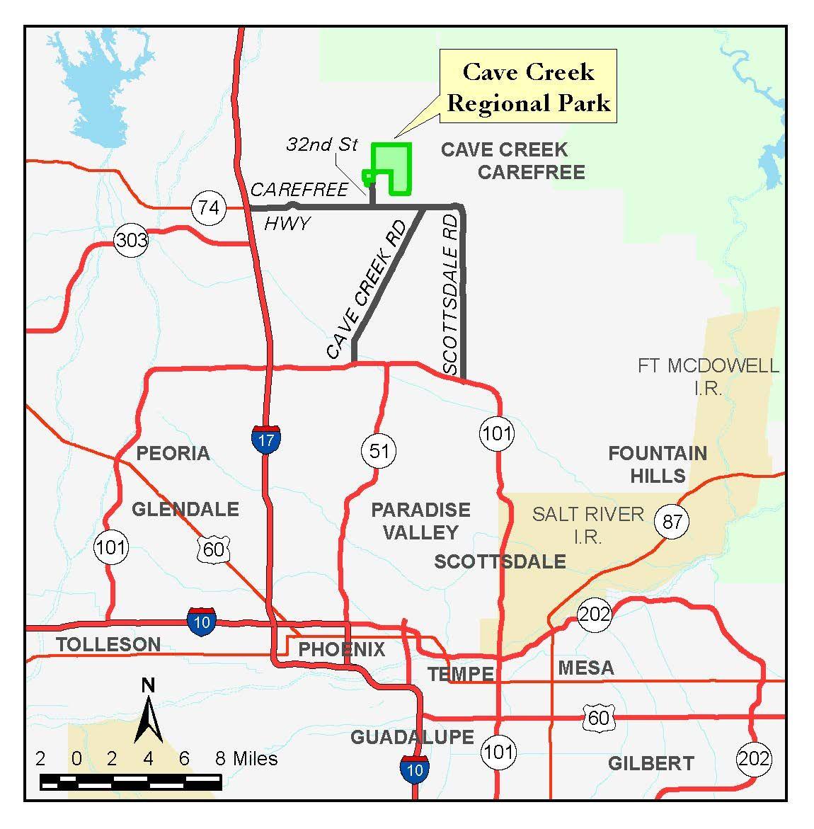 cave creek regional park map parks recreation maricopa