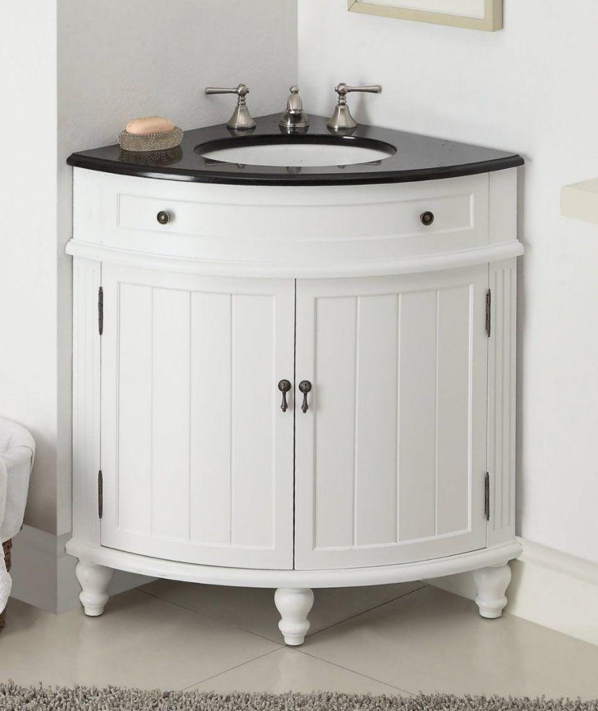 Rounded Corner Bathroom Vanity With
