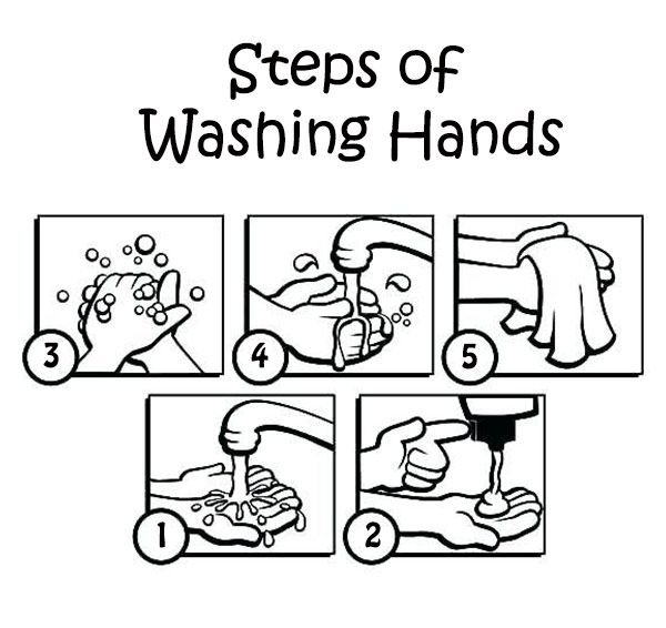 Free Hand Washing Coloring Pages For Preschoolers in 2020