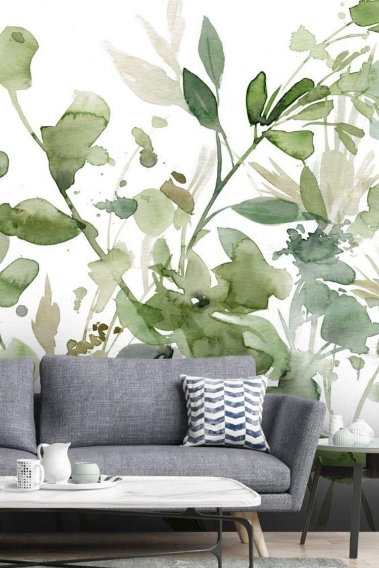 Garden Sage Akvarelnye Steny Foto Dekor Sten Dekor Sten Komnaty