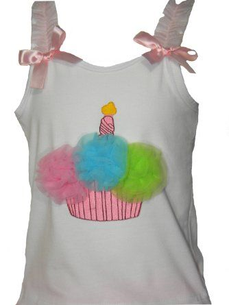 Amazon.com: Butterfly Wishes Pettiskirts Infant Girls Pink Rainbow Cupcake Tank Top: Baby