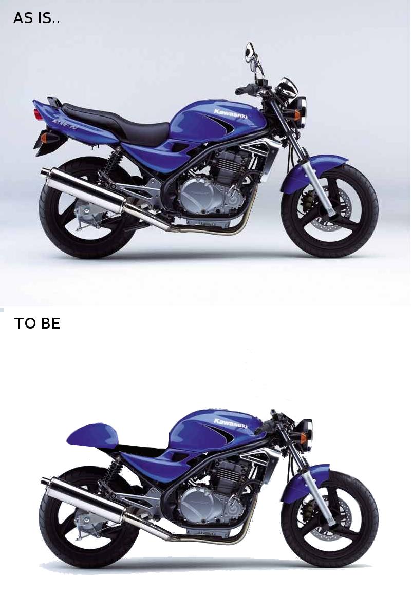 Kawasaki Er5 Cafe Racer Project Er 5 Wiring Diagram My Design Phase Motorcycle