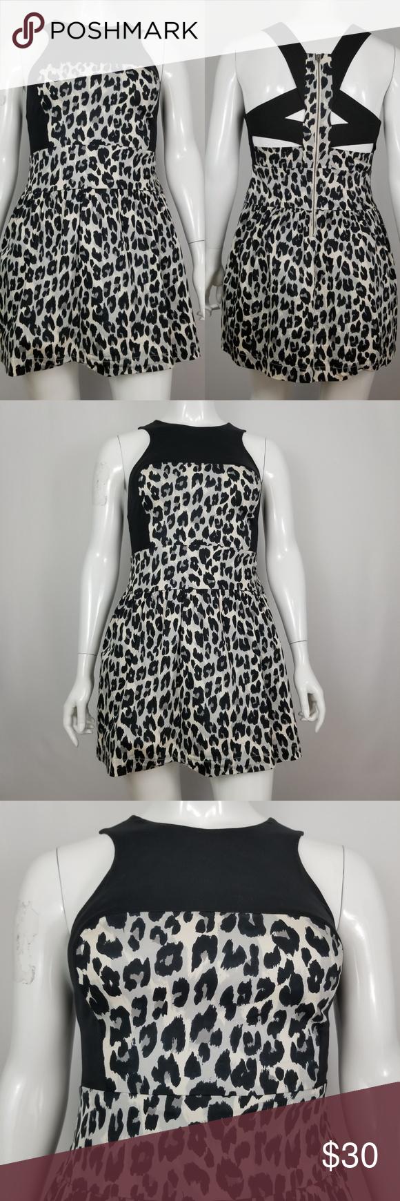 French Connection Leopard Print Dress Leopard Print Dress Print Dress Dress Brands [ 1740 x 580 Pixel ]