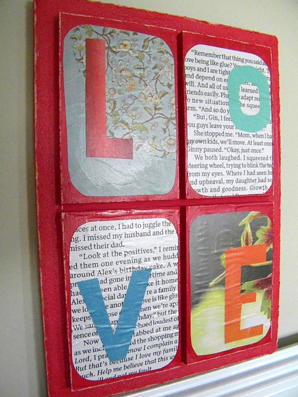Unique Love Plaque. $4.99, via Etsy.