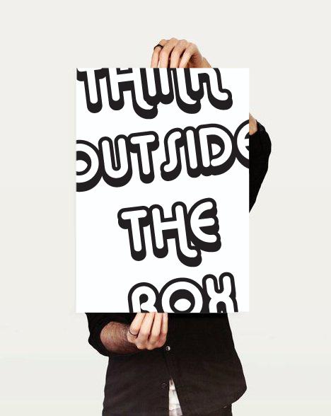 Think Outside the Box by viraj nemlekar, via Behance