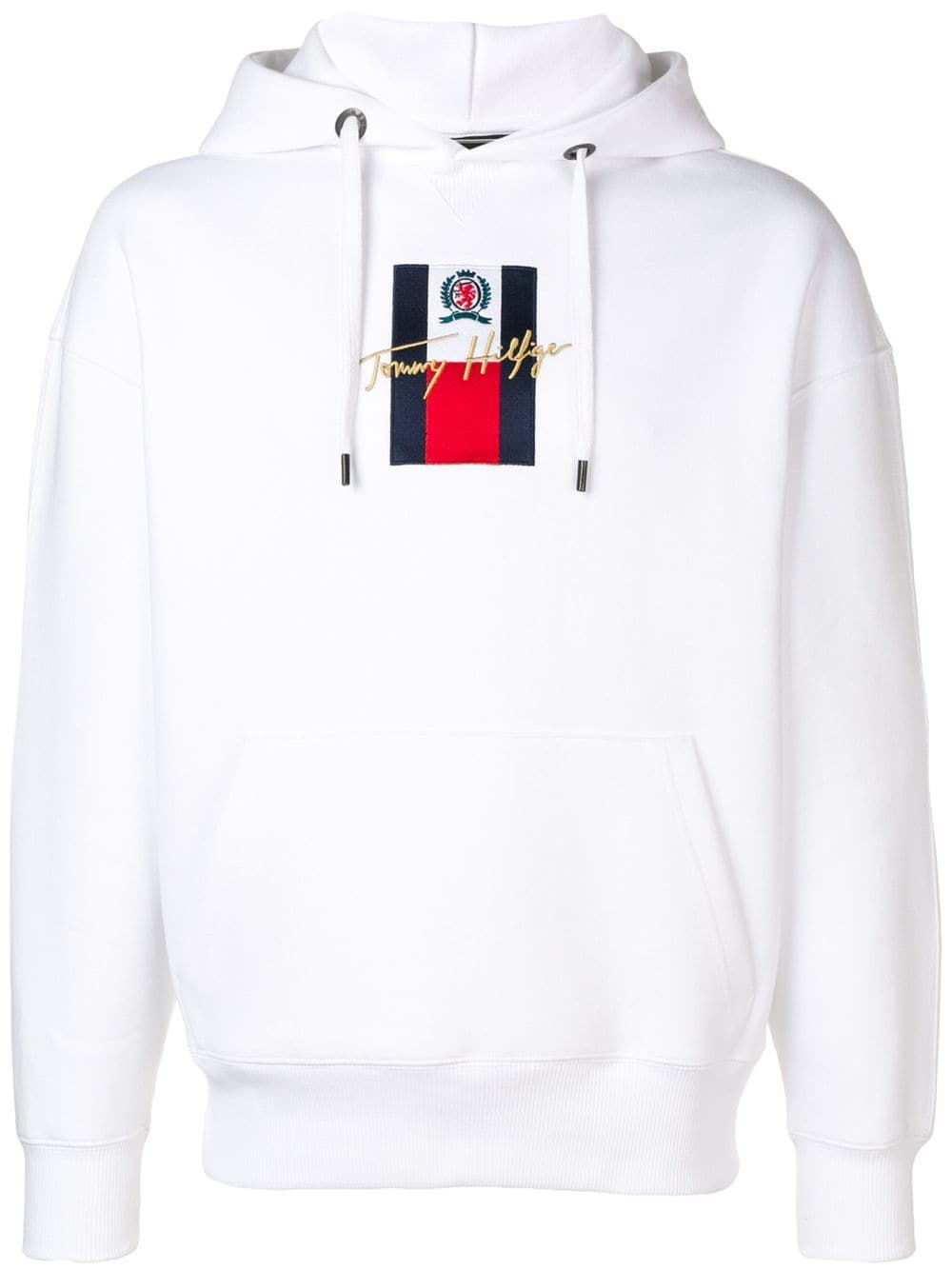 Tommy Hilfiger Logo Embroidered Hoodie In White Modesens Embroidered Hoodie Hoodies Tommy Hilfiger Outfit [ 1334 x 1000 Pixel ]