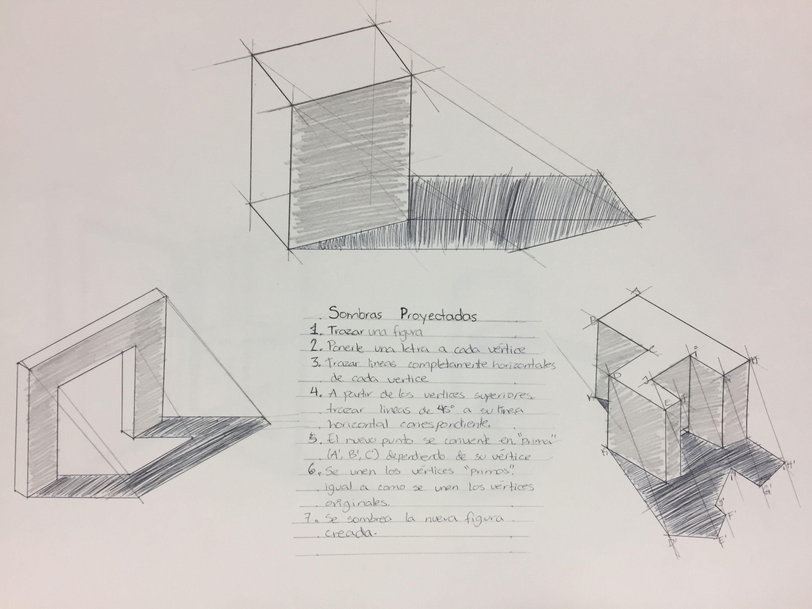 Sombras Proyectadas Sketch Book Glass Texture Shadow