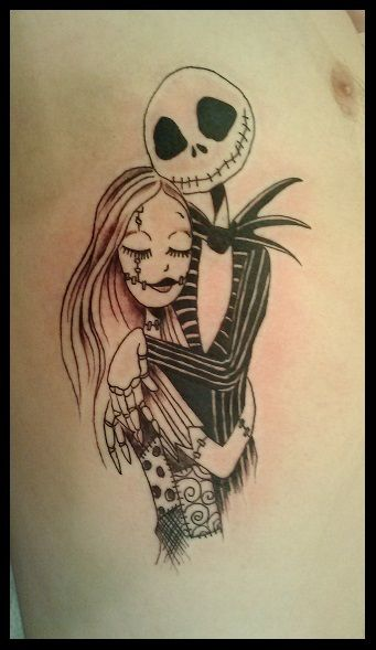 Jack and sally matching tattoos google search jaxk for Jack skellington and sally tattoos