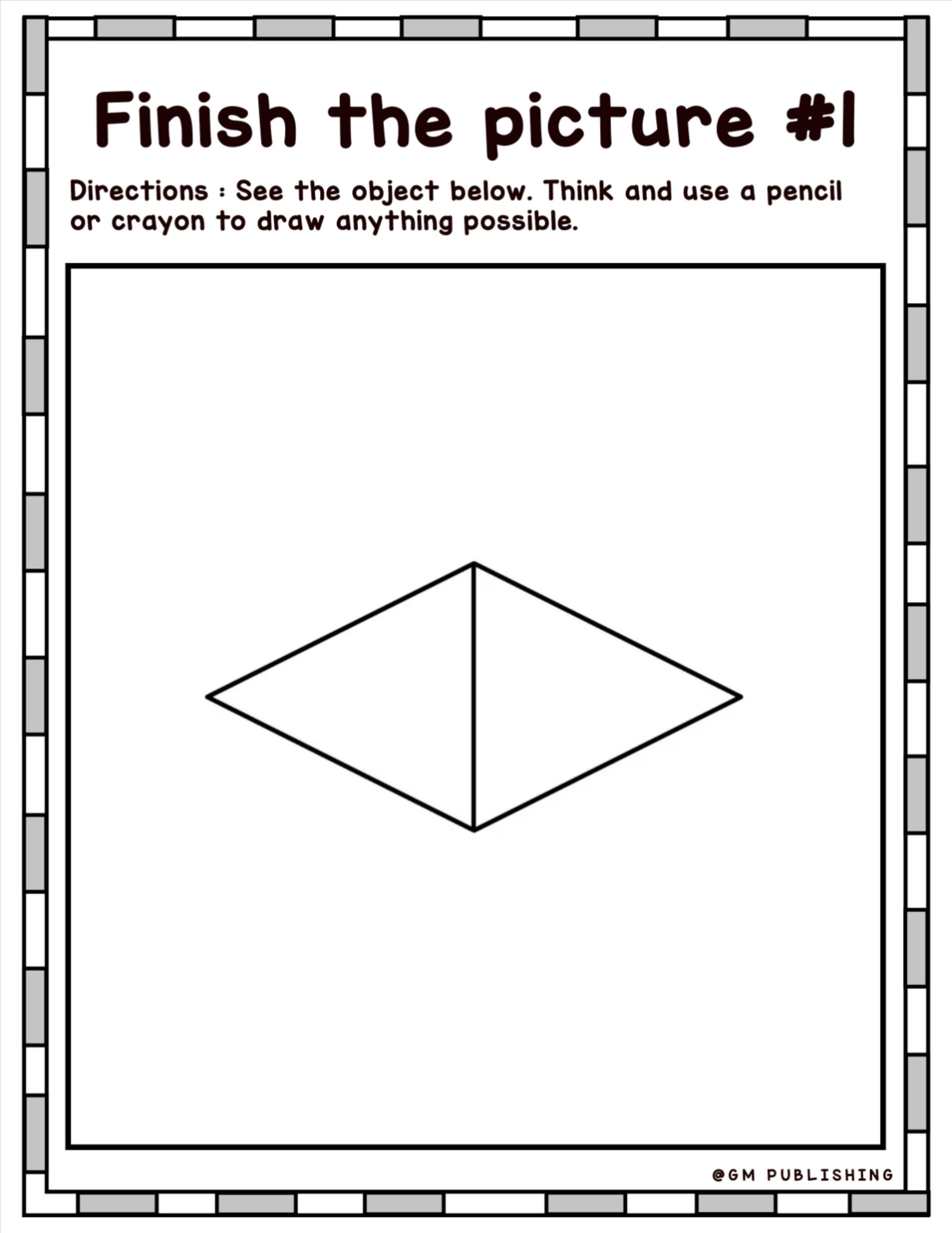 Art Creative Drawing Worksheet For Young Artist In