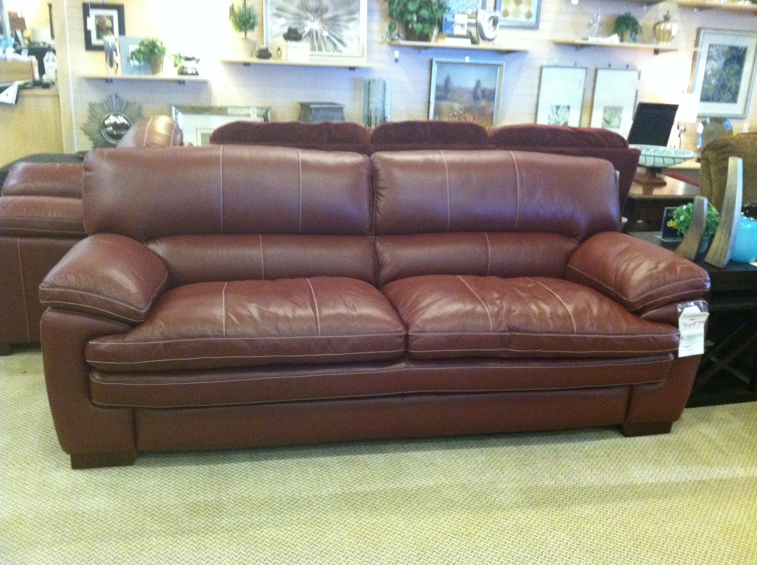 Lazy Boy Leather Sofa Brown Leather Living Room Furniture