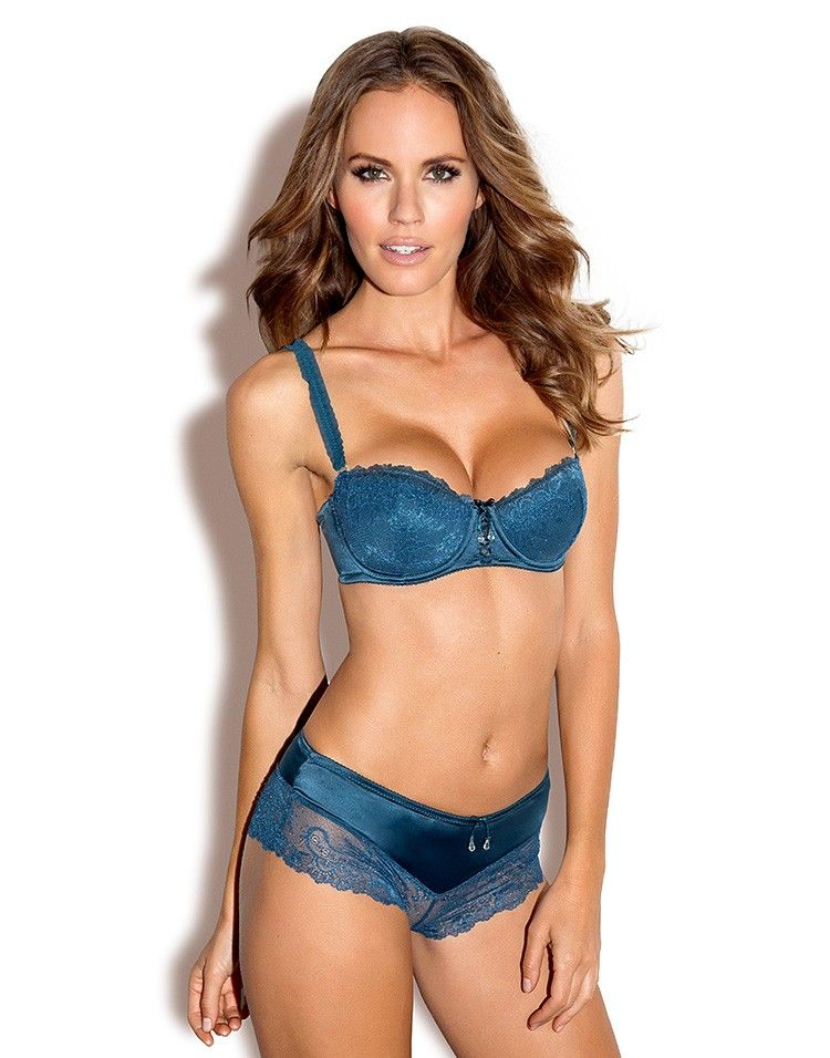 Balconet teal blue bra set 2554474bd