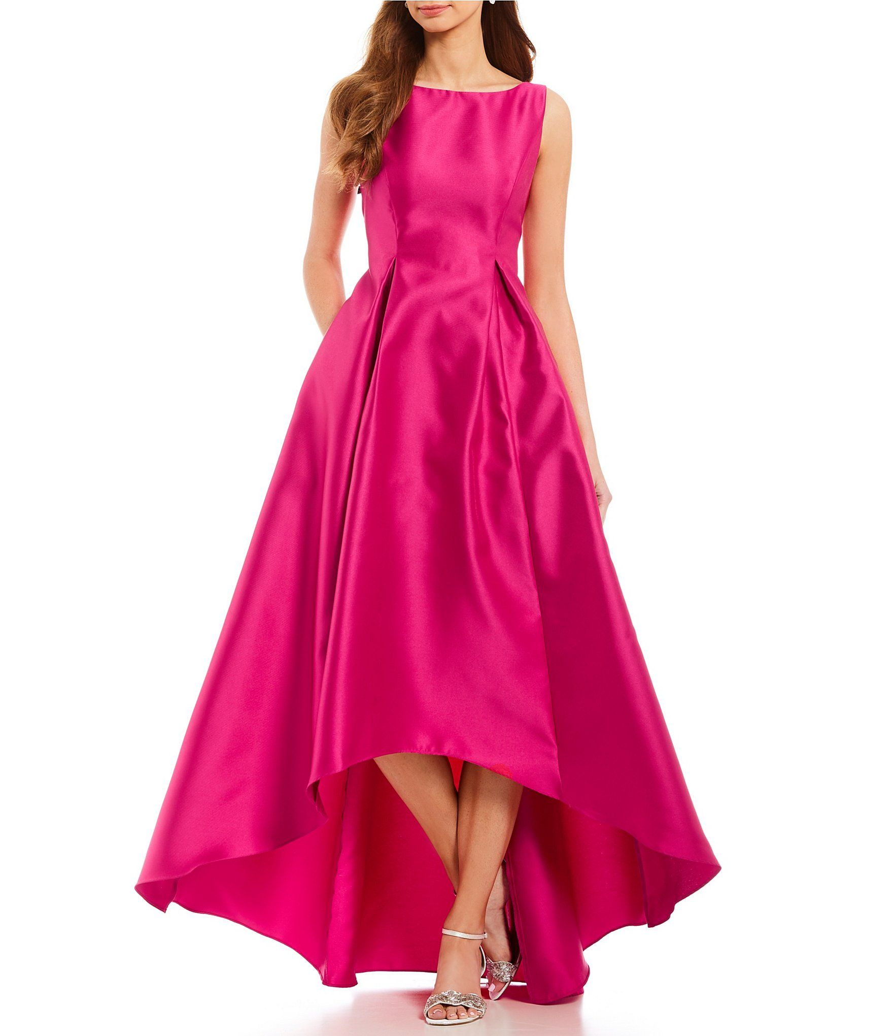 Adrianna Papell Hi-Low Sleeveless Taffeta Gown | Pinterest | Alegria ...