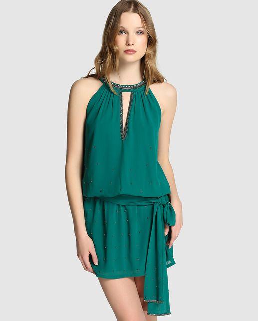 Vestido corto de mujer Tintoretto en color verde  788207c8d456