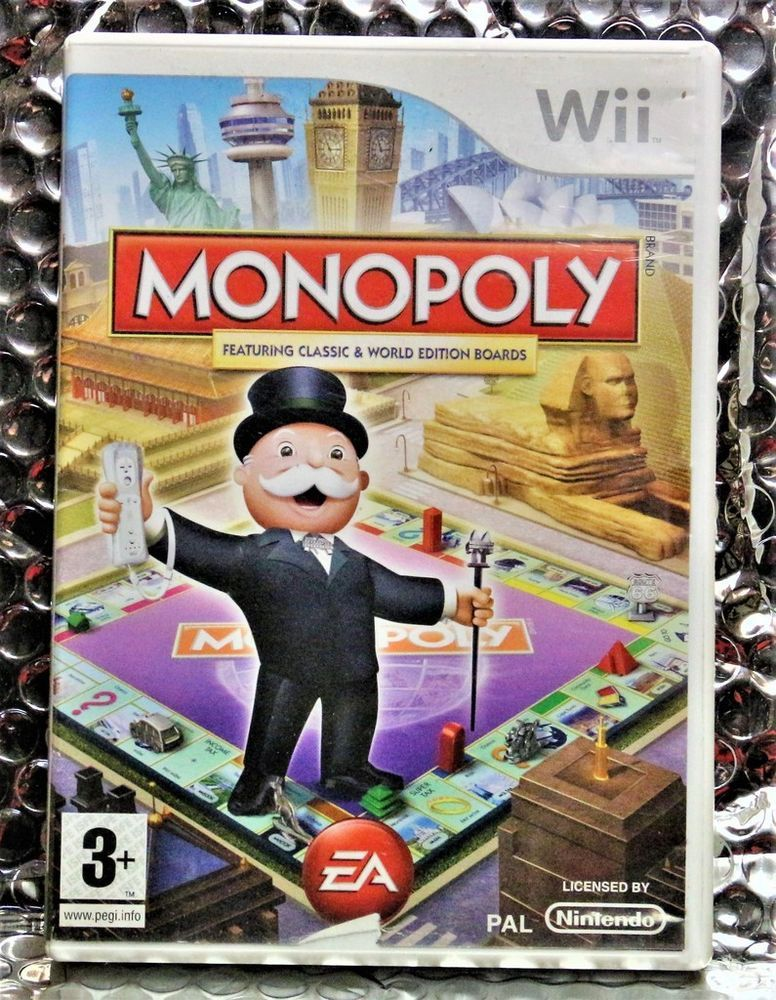 NINTENDO WII GAME MONOPOLY FEATURING CLASSIC & WORLD PAL
