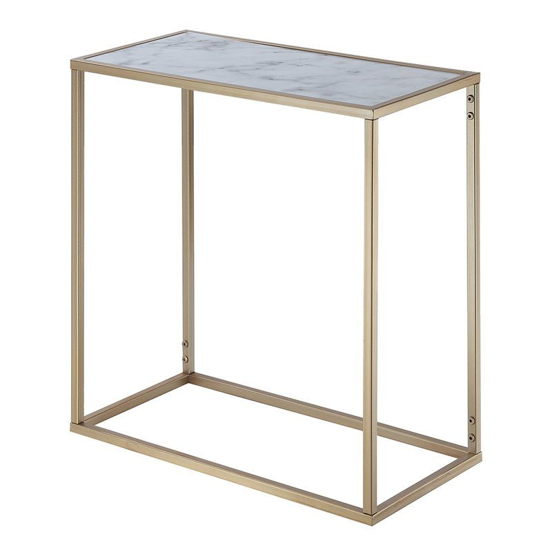 Roark End Table Marble Top End Tables End Tables Metal End Tables