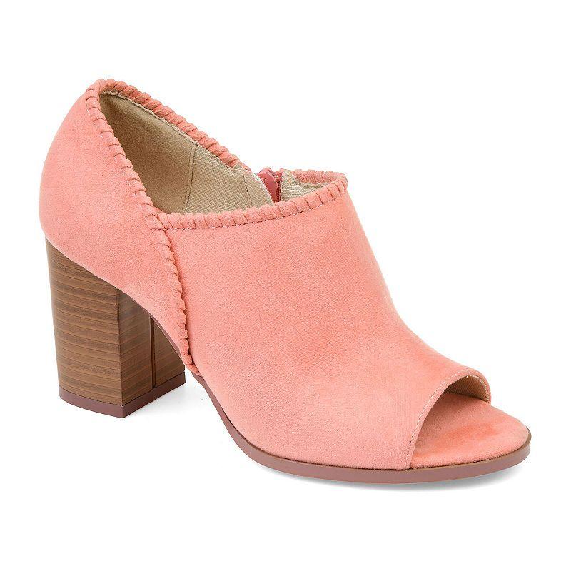 b6584f59c63a1 Journee Collection Womens Jc Kimana Stacked Heel Zip Booties ...