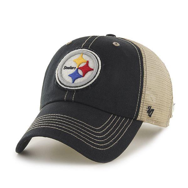 e33512ac Pittsburgh Steelers Montana Black 47 Brand Adjustable Hat ...