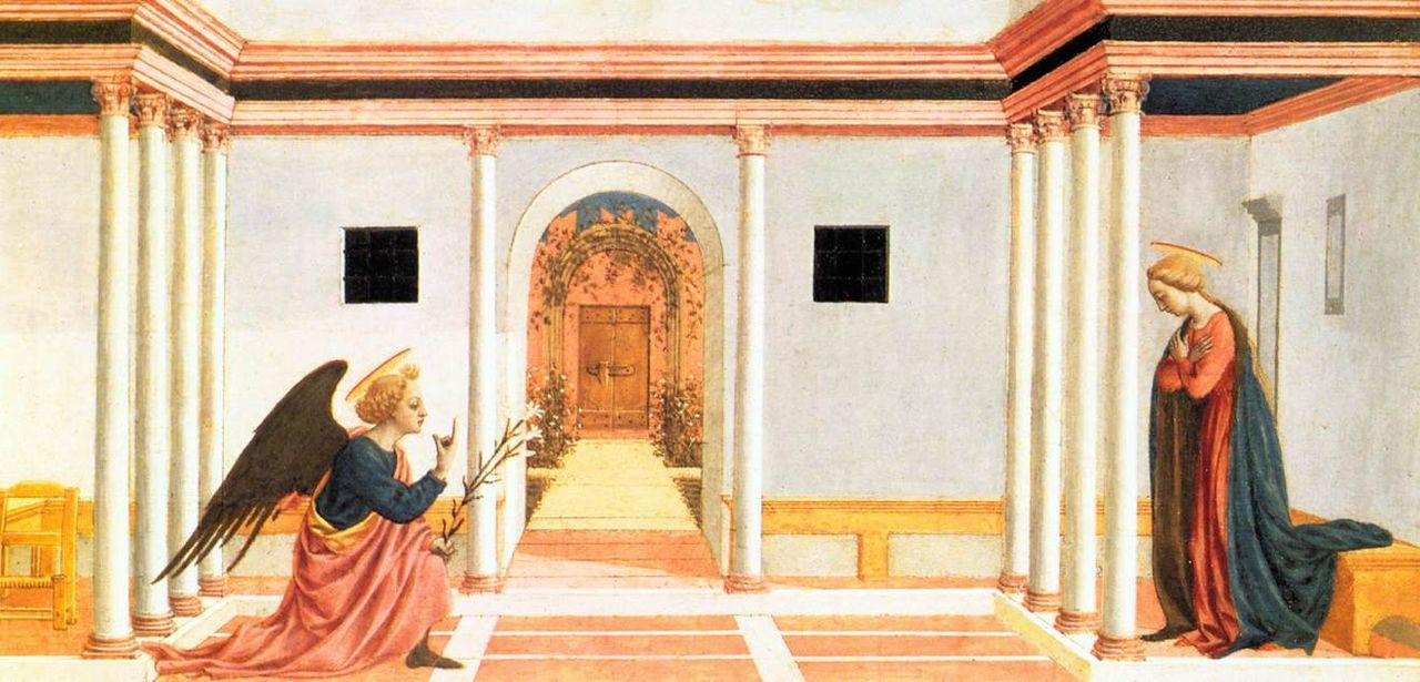 Annunciation (predella 3), fitzwilliam museum, Cambridge - Category:Pala di Santa Lucia dei Magnoli - Predella — Wikimedia Commons