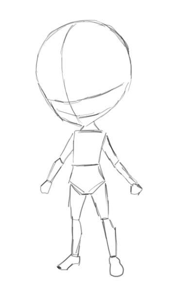 Chibi Template By Mackdoodle99 On Deviantart Chibi Drawings Body Base Drawing Cartoon Body