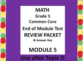 End of Module 3 Review Sheet Grade 3 Eureka Math Engage NY