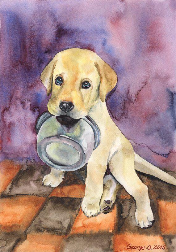 Labrador Print Funny Retriever,Police Officer Gift,Dog Watercolor Black Lab