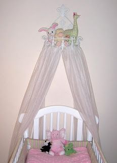 Idea Bottle Crib Canopy for the Princess using wire basket & Pretty Canopy | My Princessu0027s requests | Pinterest | Canopy Crib ...