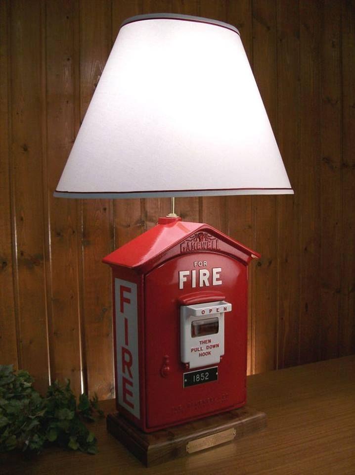 Decorative Bedroom Alarm Clocks: Fire Alarm Lamp