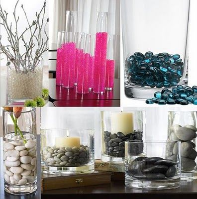 Vase fillers on pinterest vase fillers golf ball and for Floor vase filler ideas