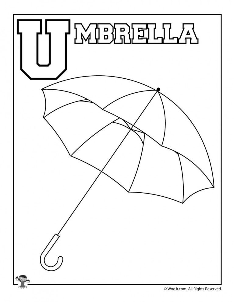 44++ U is for umbrella coloring page info