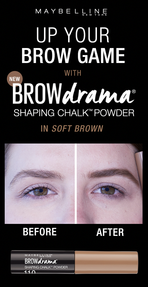 Up your eyebrow game with the NEW Brow Drama Shaping Chalk
