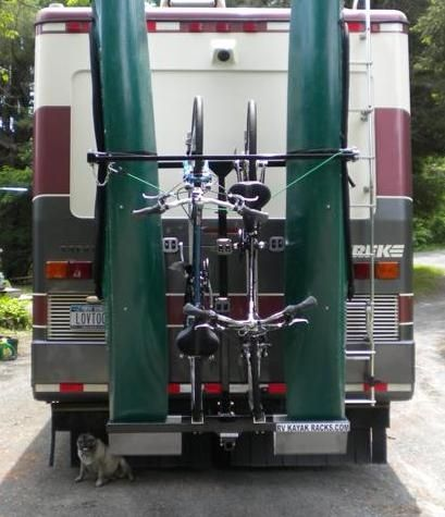 Amazing Vertical Rack On The Back Of My Motorhome To Carry My Paddle Board, Kayak,  Pontoon Boat And Beach Cruiser. Iu0027ll Tow My Can Am Motor Cycle Behind That  ...