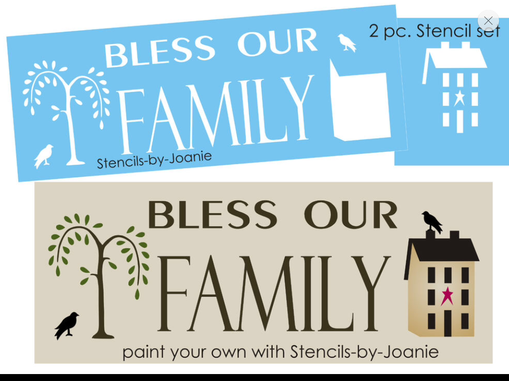 Crafts Signs Stencil Primitive Country Blessings for Walls Borders