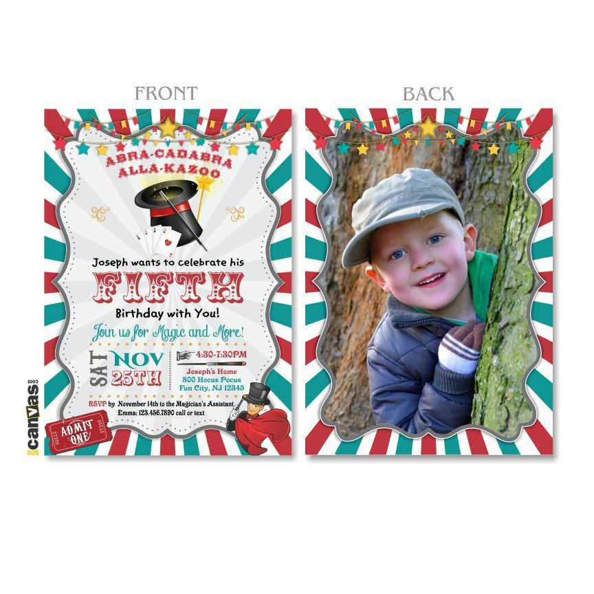 Magic Birthday Invitation, Magic Party Invitation, Magic Show ...