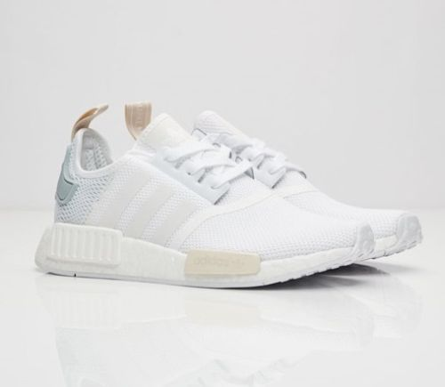 ADIDAS NMD XR1 FTW WHITE - FTW WHITE - TACTILE GREEN WOMENS - UK SIZE 4 -  7.5