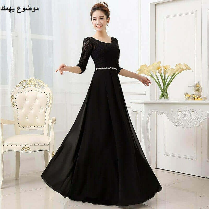احدث فساتين سواريه طويلة للمحجبات 2019 موضوع يهمك Long Black Evening Dress Gowns Dresses