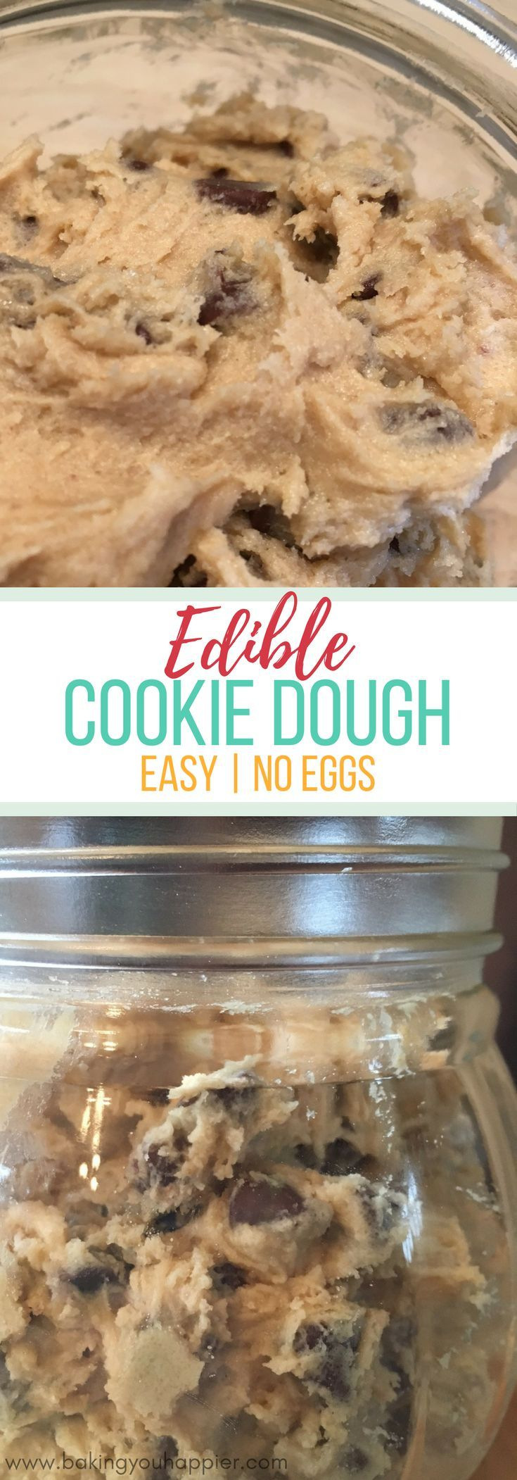 Edible Eggless Cookie Dough Recipe | Baking You Happier