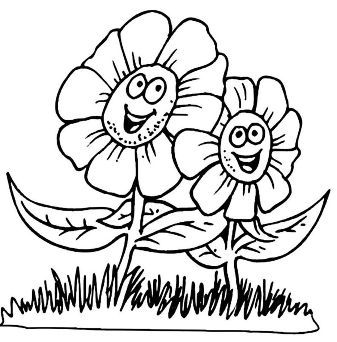 spring coloring pages printable spring coloring pages free - Kids Colouring Picture