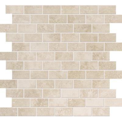 Modamo Ivory Ceramic Mosaic 1 Inch X 2 Inches Yus12ct002 Home Depot Canada Ceramic Mosaic Tile Home Depot Canada Kitchen Redo