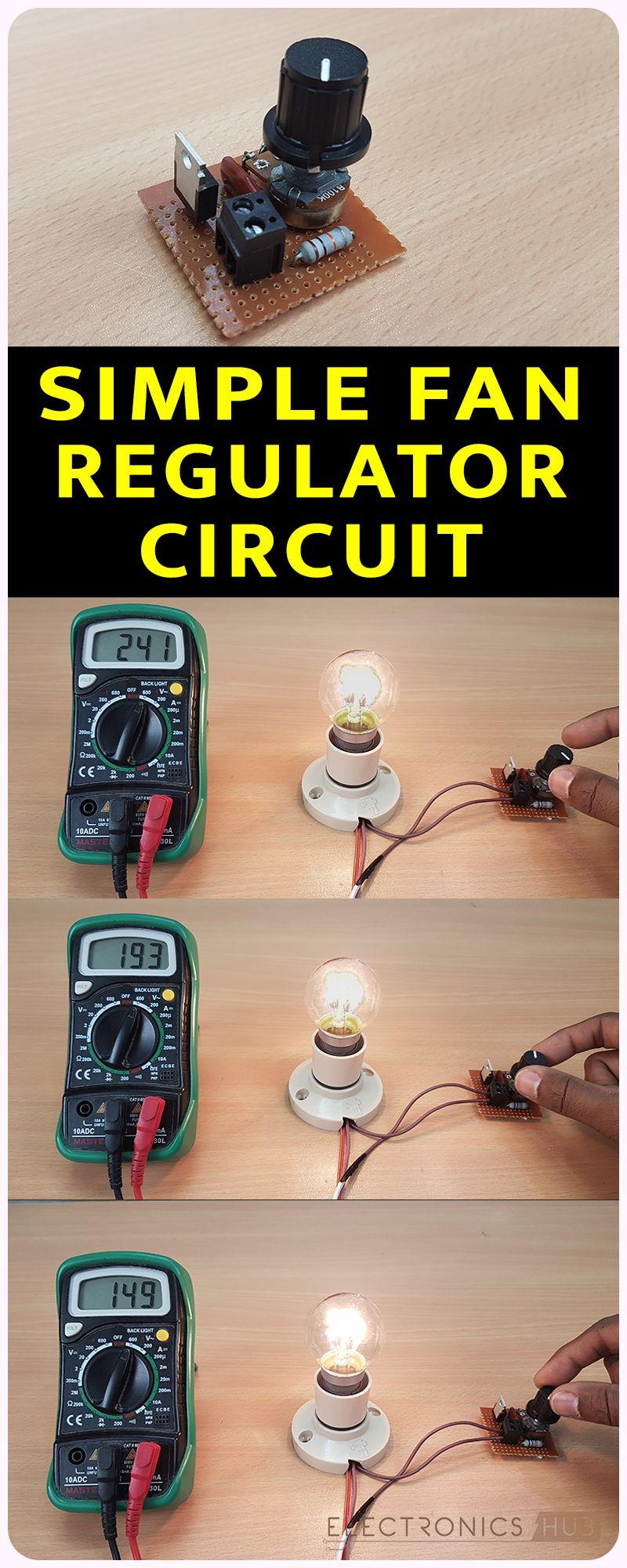 Simple Fan Regulator Circuit Using Triac And Diac Electronics Diagrams Of Projects Pinterest Arduino Circuits